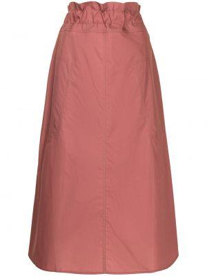 Хлопковая с завышенной талией красная юбка Sofie D'hoore