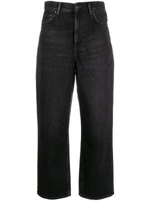 Prosto bawełna bawełna jeansy na wysokości z kieszeniami Acne Studios
