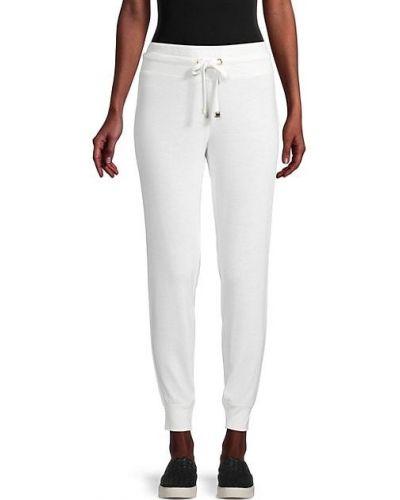 Мягкие с кулиской белые джоггеры Calvin Klein