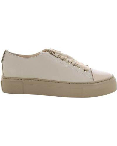 Beżowe sneakersy Agl