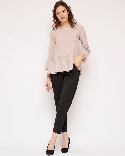 С рукавами блузка с оборками с вырезом Fiato