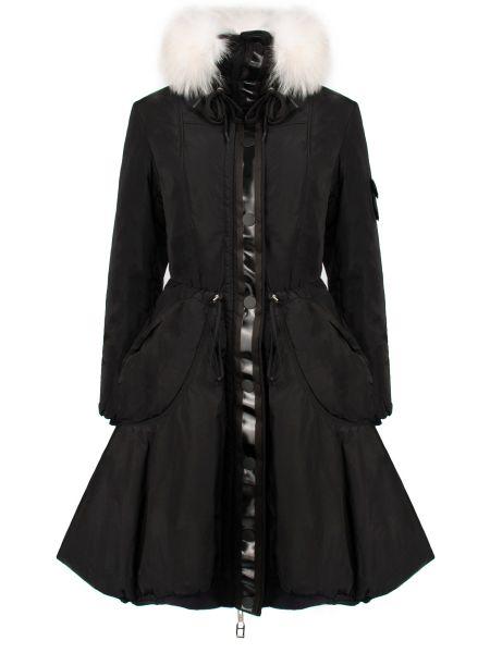 Куртка с капюшоном черная длинная High