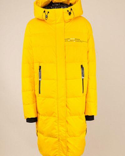 Пуховик-пальто - желтый Snowimage