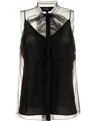 Блузка полупрозрачная - черная Paule Ka