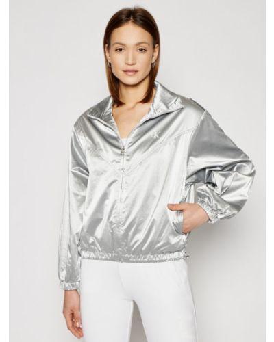 Kurtka jeansowa srebrna Calvin Klein Jeans
