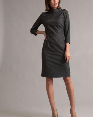 Вечернее платье серое на пуговицах Emka