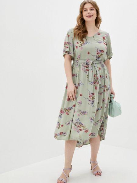 Повседневное платье зеленый весеннее Zizzi