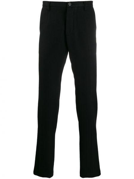 Czarne spodnie bawełniane z paskiem Christian Pellizzari