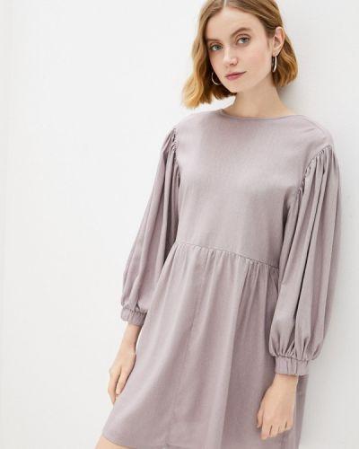 Фиолетовое прямое платье Vivostyle