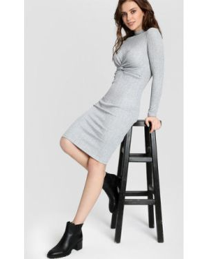 Платье миди в рубчик с люрексом Ostin