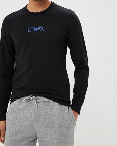 Черная футболка домашняя Emporio Armani