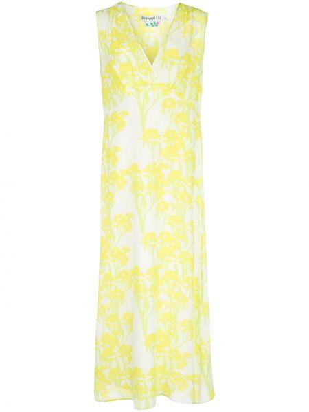 Платье миди с цветочным принтом с V-образным вырезом Bernadette