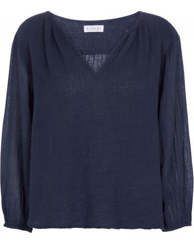 Бархатная синяя блузка для бассейна Velvet