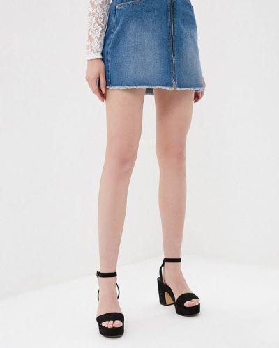 Джинсовая юбка синяя Jennyfer