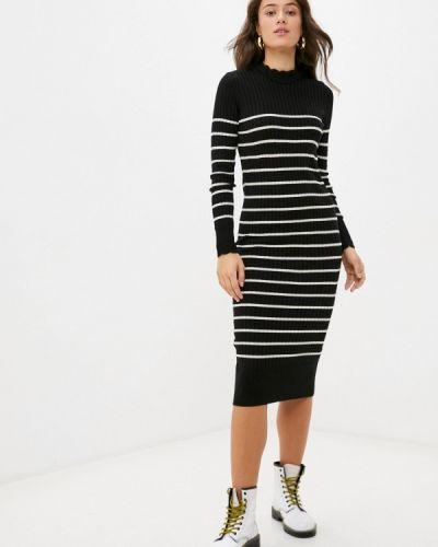 Трикотажное вязаное черное платье Trendyol
