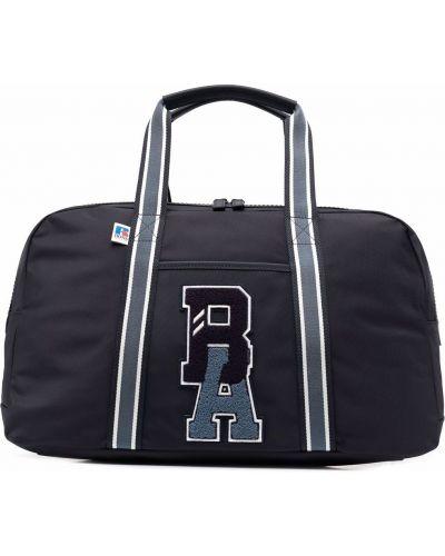 Кожаная сумка - синяя Boss Hugo Boss