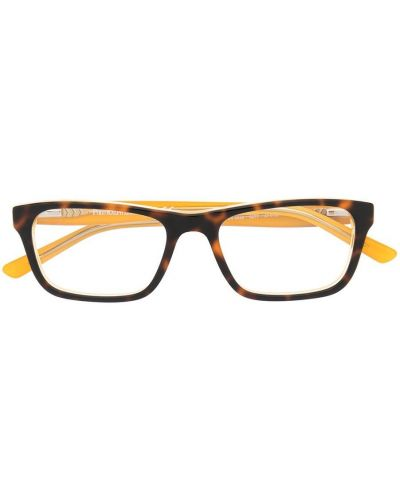 Коричневые очки прямоугольные Polo Ralph Lauren