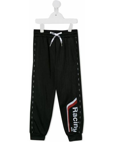 Sportowe spodnie z mankietami chudy Msgm Kids