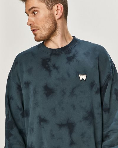 Bluza z kapturem bawełniana granatowa Wrangler