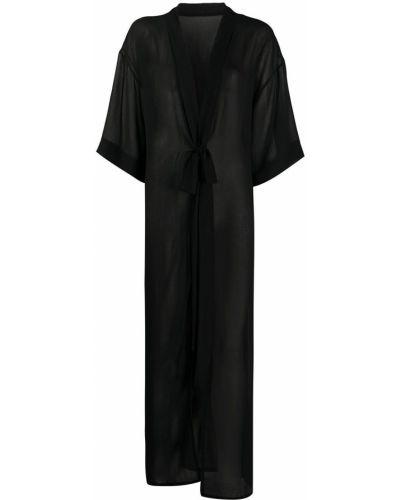 Z rękawami czarny kimono z wiskozy Alchemy