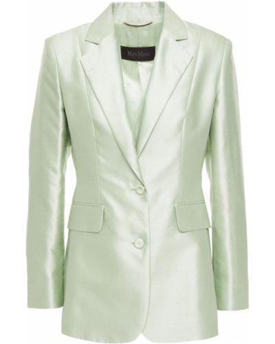 Шелковый пиджак с карманами на пуговицах Max Mara