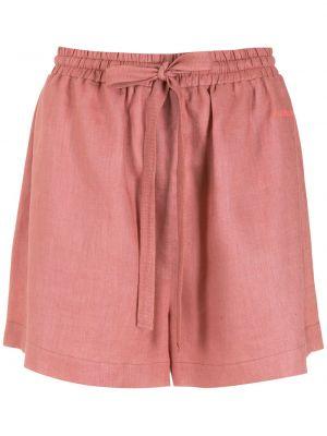 Розовые шорты с надписью Nk