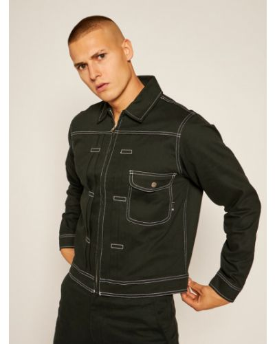 Czarna kurtka jeansowa Huf