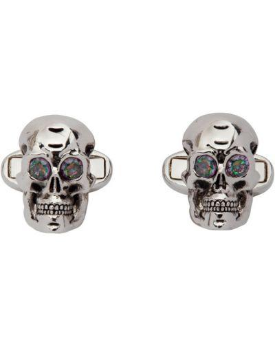 Серебряные запонки с черепами металлические Paul Smith
