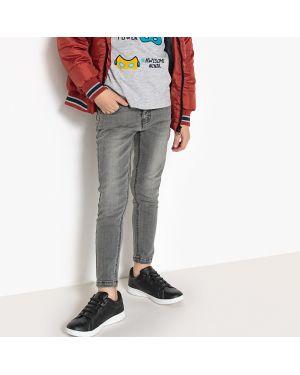Серые джинсы с поясом La Redoute Collections