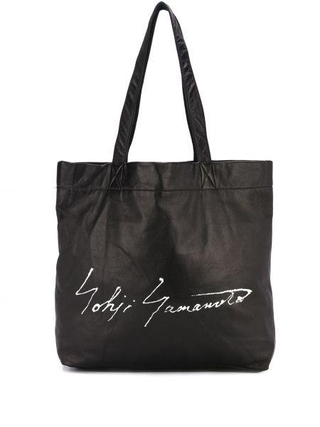 Кожаная черная сумка-тоут Discord Yohji Yamamoto
