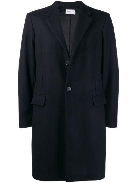 Песочное шерстяное пальто на пуговицах Sandro Paris