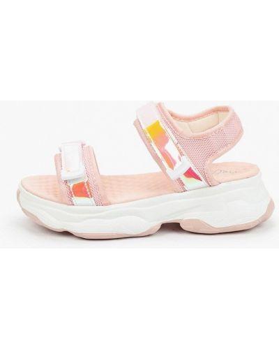 Розовые кожаные сандалии Patrol