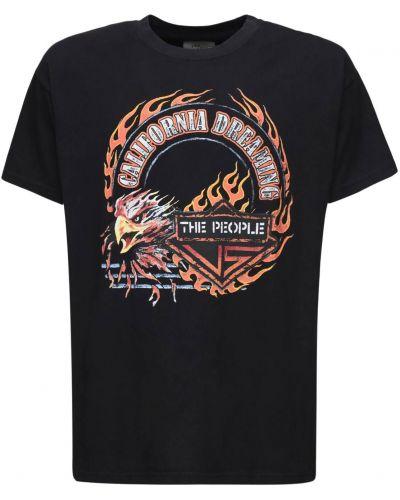 Czarny t-shirt bawełniany The People Vs