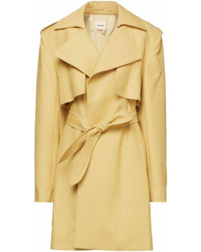 Желтое пальто с карманами на пуговицах Khaite