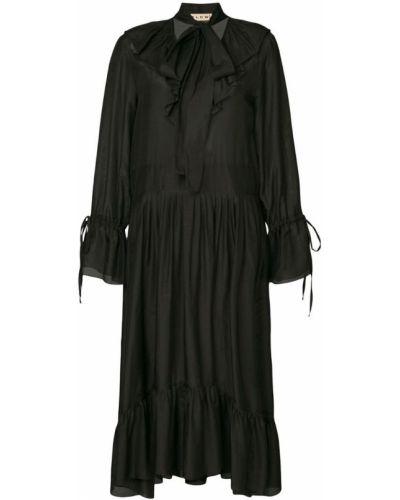 Платье миди платье-рубашка плиссированное Flow The Label