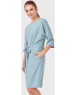 Платье бирюзовый прямое Pompa