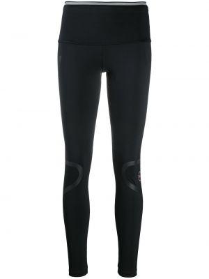 Леггинсы с завышенной талией - черные Adidas By Stella Mccartney