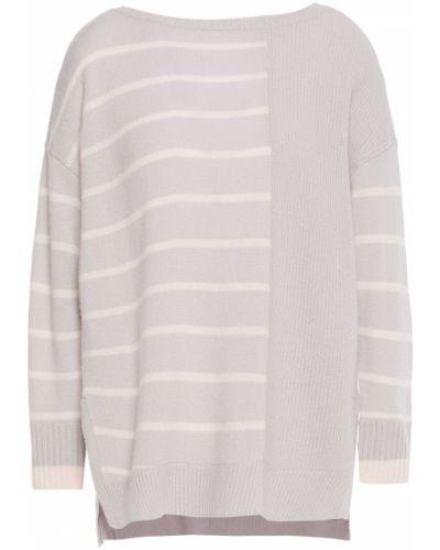 Серый кашемировый свитер в полоску Duffy