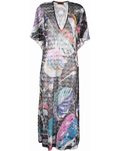 Платье макси длинное - черное Missoni