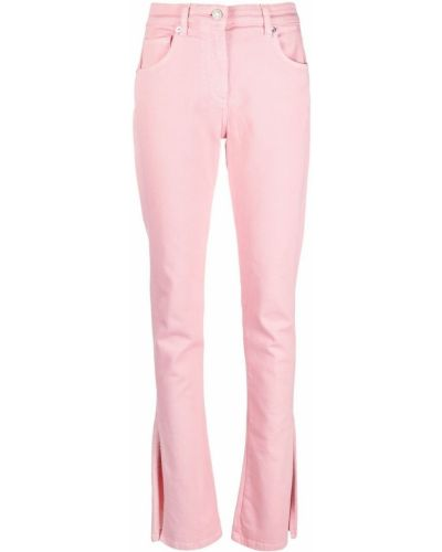 Хлопковые розовые джинсы классические с карманами Blumarine