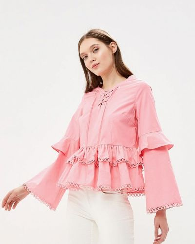 Розовая блузка с рюшами Glamorous