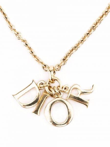 Złoty naszyjnik łańcuch Christian Dior