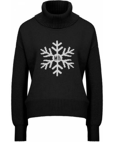 Черный шерстяной свитер с воротником Maison Bohemique