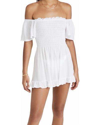 Платье мини с декольте - белое Tiare Hawaii