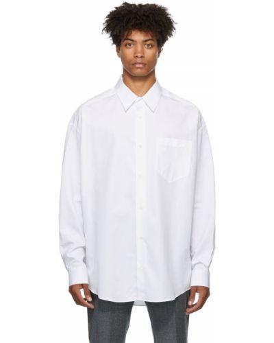 Biała koszula z długimi rękawami - biała Ami Alexandre Mattiussi