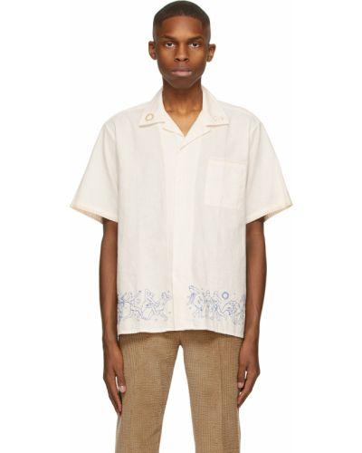 Biała koszula bawełniana krótki rękaw Carne Bollente