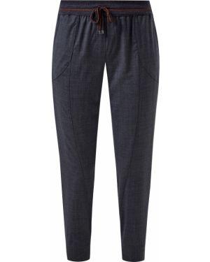 Шерстяные классические брюки - серые Lorena Antoniazzi