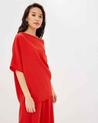 Блузка с коротким рукавом весенний красная Adolfo Dominguez