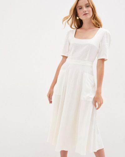 Прямое белое платье Lorani