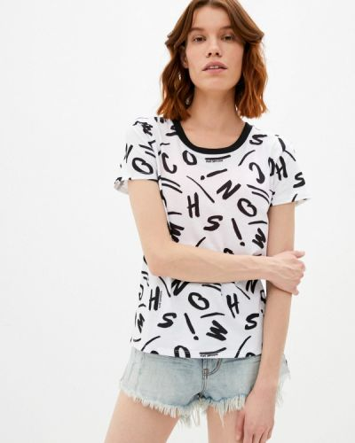 Белая футболка с короткими рукавами Moschino Swim